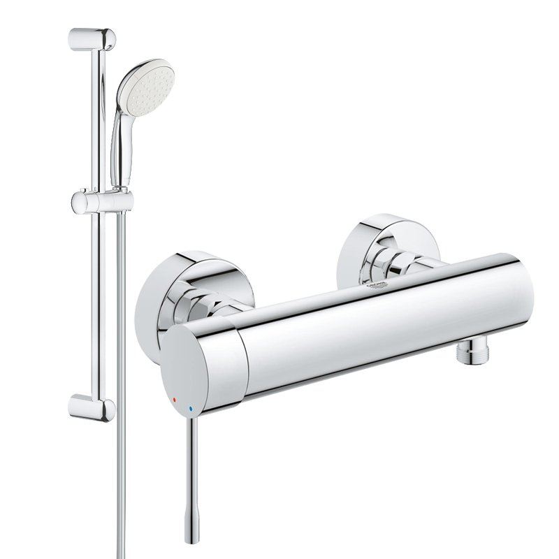 Pachet: Baterie de dus Grohe Essence New-33636001 + Set dus Grohe New Tempesta 100-27853001 imagine 2021 baterii-lux.ro