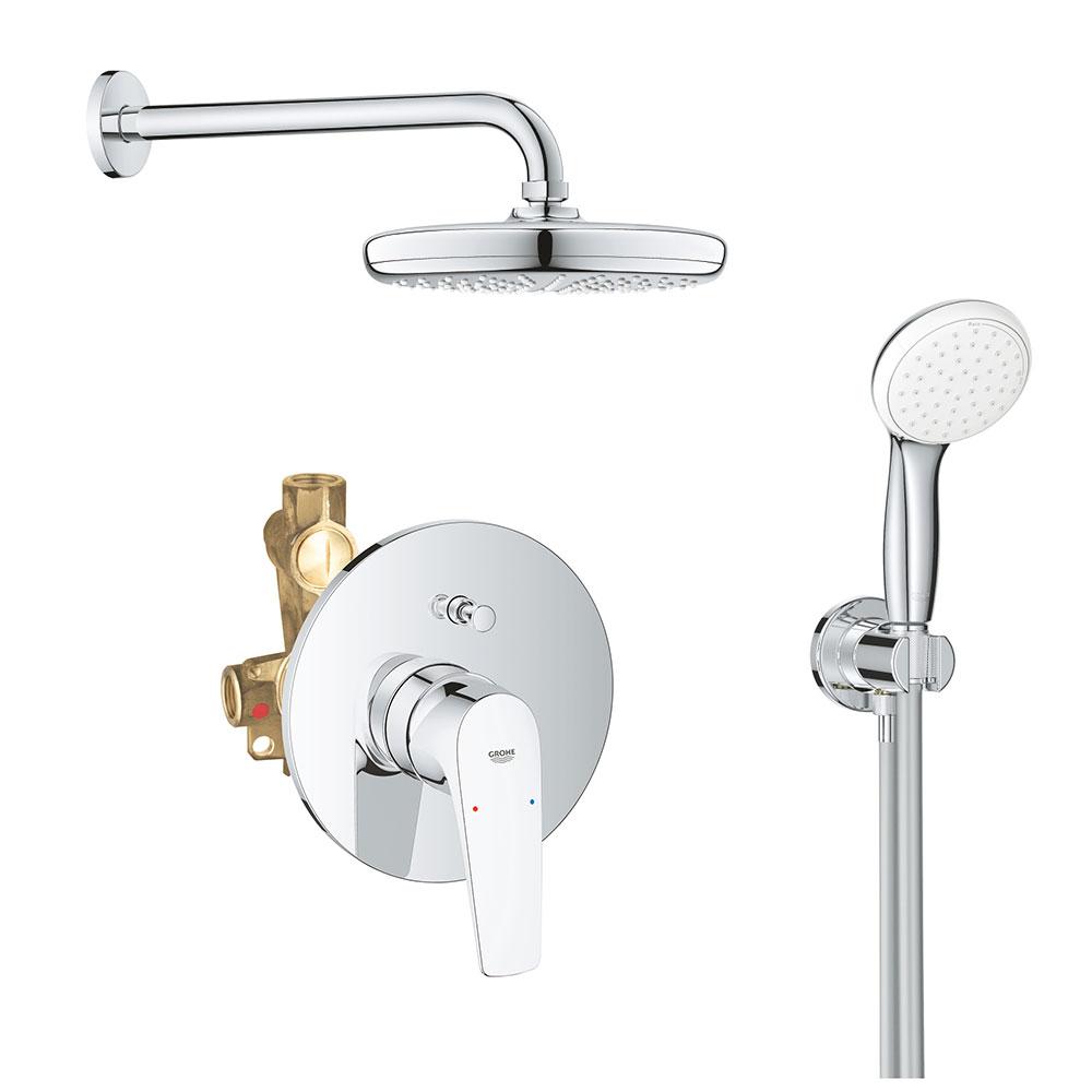 Sistem dus montaj incastrat Grohe Bauflow Perfect Shower,corp incastrat inclus imagine