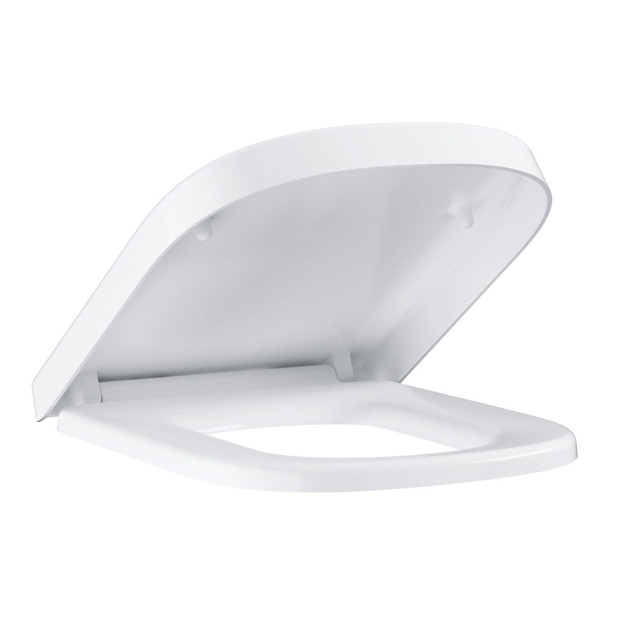 Capac wc Grohe Euro Ceramic, inchidere lenta, alb,set fixare inclus-39330001 imagine