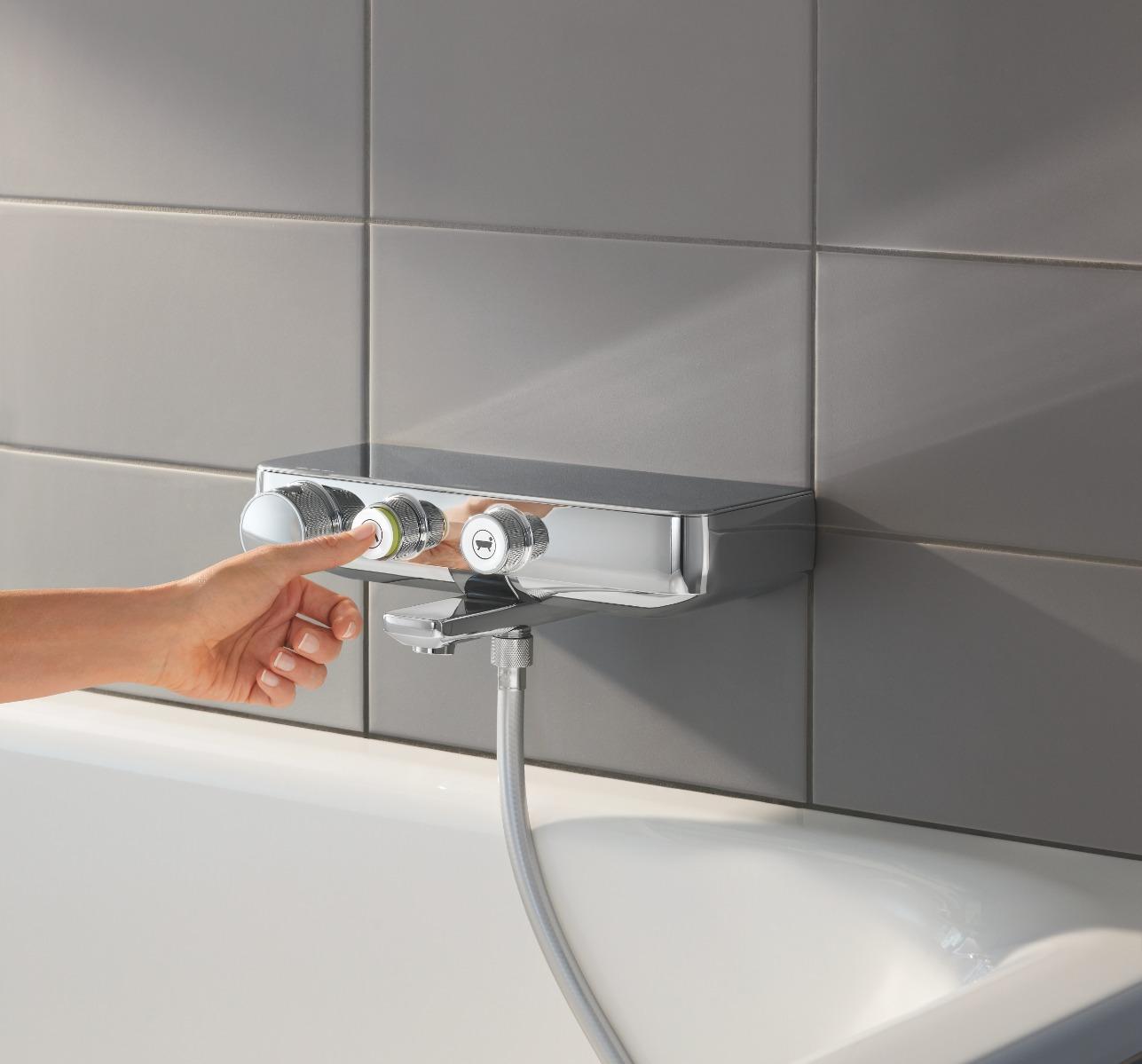 Baterie cada dus cu termostat Grohe Euphoria SmartControl-34718000 imagine