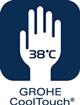 GROHE CoolTouch  (Kitchen) - Sigur de atins la temperaturi inalte - GROHE CoolTouch® asigură o izolare fiabilă a tubului interior de apa, astfel incat corpul robinetului este sigur la atingere chiar și atunci când curge apa la 100°C. Robinetul poate fi utilizat în siguranță în gospodăriile cu copii, datorită acestei tehnologii de protecție a pielii lor sensibile la opărire in contact suprafețele fierbinți.